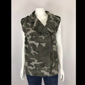 Urban Outfitters Silence & Noise Camo Moto Vest